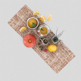 Fruits 3d rendu