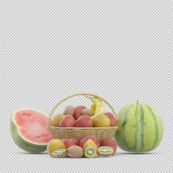 Fruits 3d rendu
