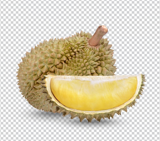 Fruits mûrs durian isolés