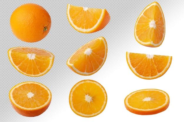 Fruits oranges frais isolés