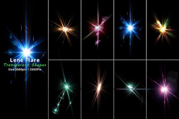 Fusées éclairantes et ensemble isolat léger et réaliste