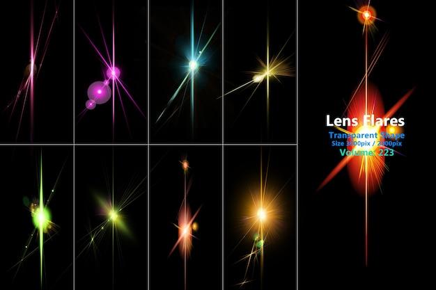 Les fusées éclairantes et la lumière colorée réaliste isolent