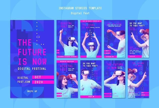 Le futur est maintenant le modèle d'histoires instagram