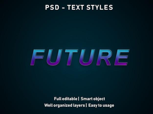 Futur style des effets de texte psd modifiable
