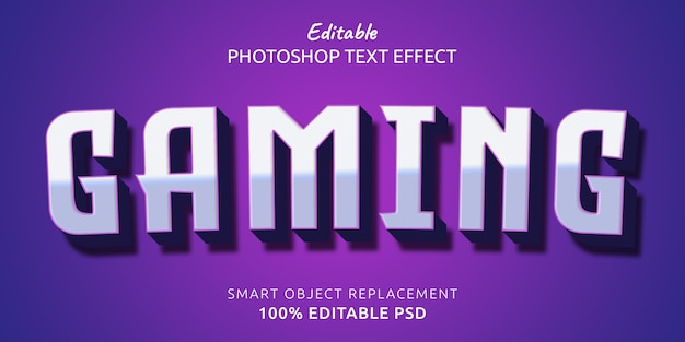 Gaming editabletext style effect