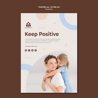 Gardez le modèle d'affiche positif