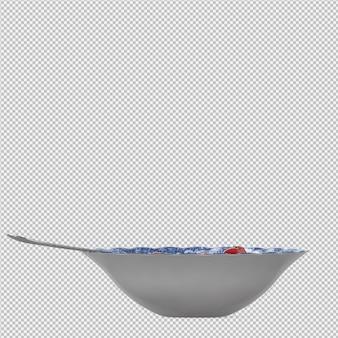 Gelée dessert 3d rendu isolé