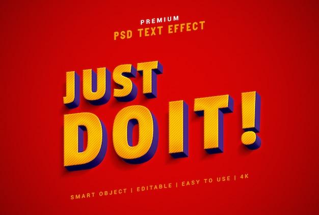 Générateur d'effets de texte just do it premium psd