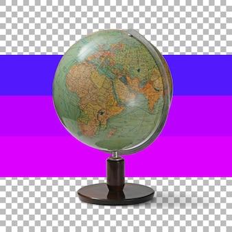 Globe éducatif isolé