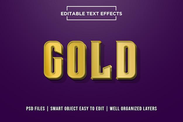 Gold - effet de texte premium 3d gras