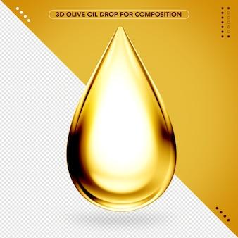 Goutte d'huile d'olive 3d pour le maquillage