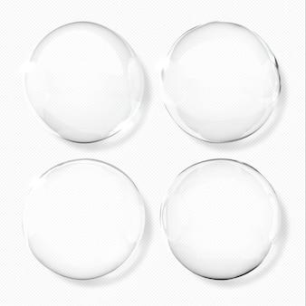 Gouttelettes d'eau transparentes