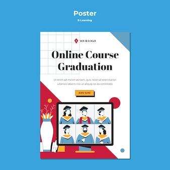 Graduation en ligne du concept e-learning