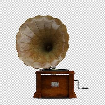 Gramophone isométrique