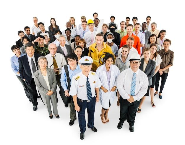 Grand groupe de professionnels