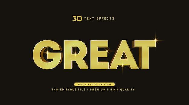 Grande maquette d'effet de style de texte 3d