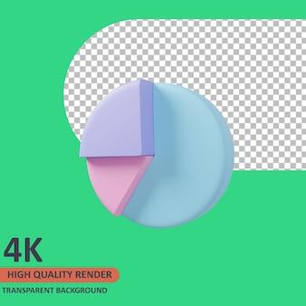 Graphique circulaire 3d business icon illustration rendu de haute qualité