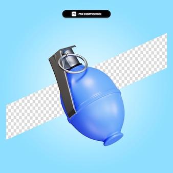 Grenade à fragmentation illustration de rendu 3d isolé