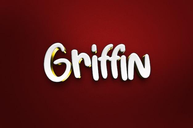 Griffin - effet de style de texte 3d psd