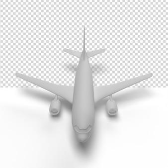 Gros plan sur un avion en rendu 3d isolé