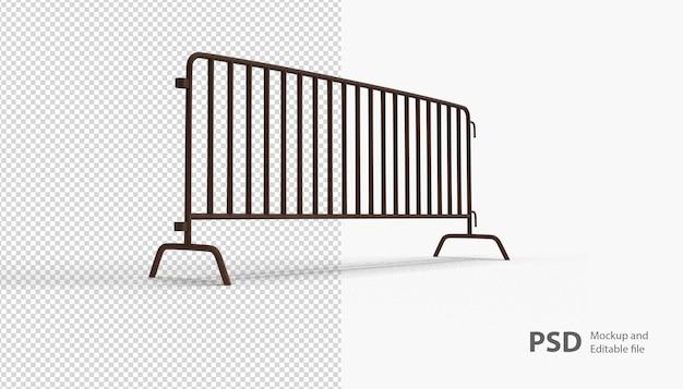 Gros plan sur la barricade isolée