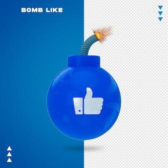 Gros plan sur la bombe comme le rendu 3d