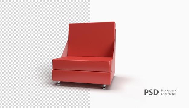 Gros plan sur le canapé isolé dans le rendu 3d
