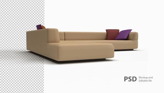Gros plan sur un canapé isolé
