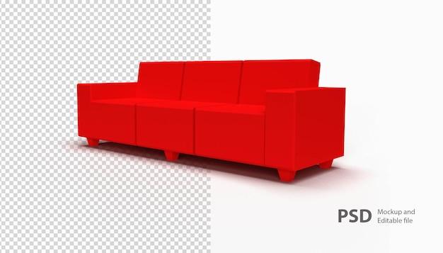 Gros plan sur le canapé