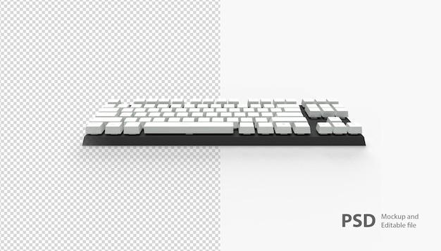 Gros plan sur le clavier isolé