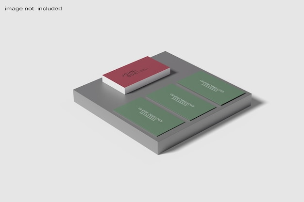 Gros plan sur la conception de maquette de carte de visite