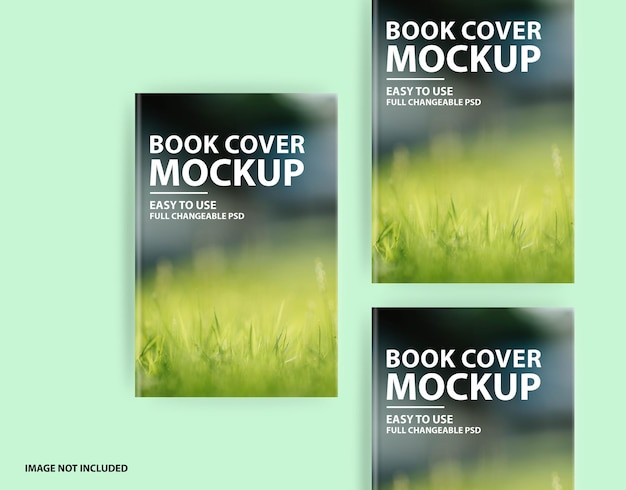 Gros plan sur la conception de maquette de couverture rigide de beau livre