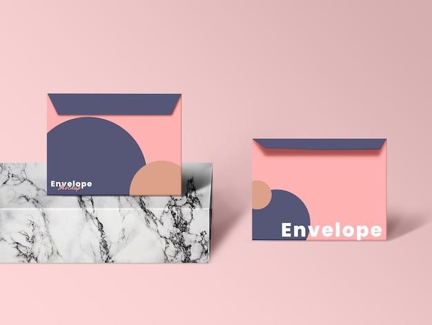 Gros plan sur la conception de maquette d'enveloppe minimaliste