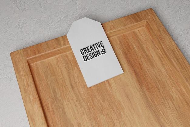 Gros plan sur la conception de maquette d'étiquette d'étiquette