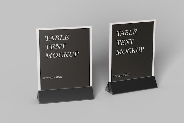 Gros plan sur la conception de maquette de tente de table isolée