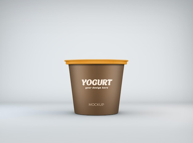 Gros plan sur la conception de maquette de yogourt isolé
