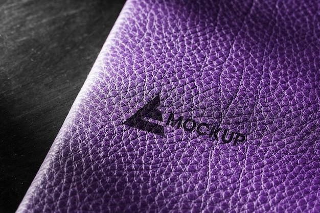 Gros plan, de, cuir violet