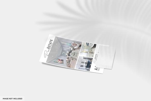 Gros plan sur un dépliant ou une brochure pour une maquette immobilière