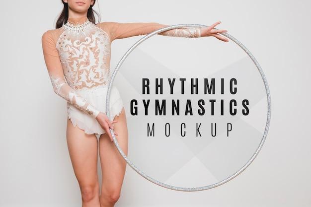 Gros plan de gymnastique rythmique