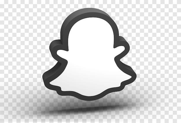 Gros plan sur l'icône de snapchat isolé