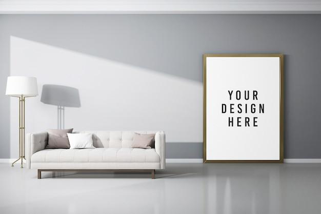 Gros plan sur une maquette d'affiche ou de cadre photo