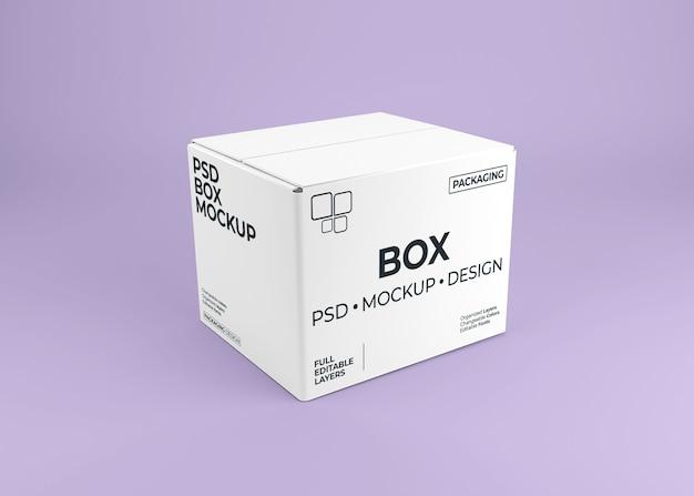 Gros plan sur la maquette de la boîte pour l'emballage