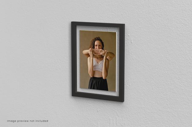 Gros plan sur la maquette de cadres photo isolé