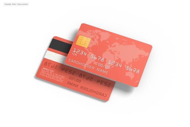 Gros plan sur la maquette de carte de crédit isolée