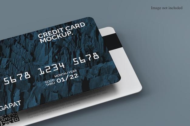 Gros plan sur la maquette de la carte de crédit