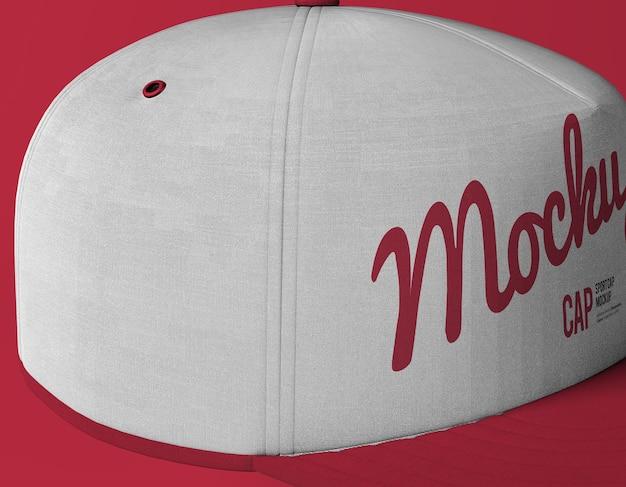 Gros plan sur la maquette de casquette de sport