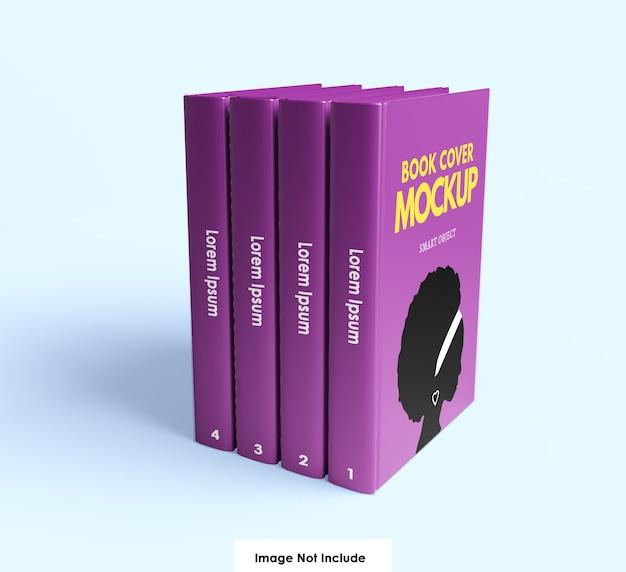 Gros plan sur la maquette de la couverture du livre isolé