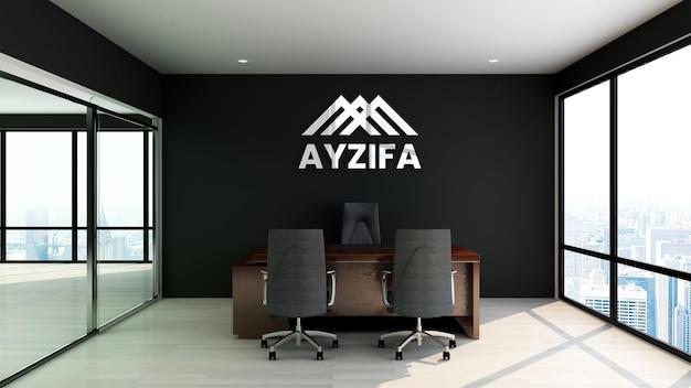 Gros plan sur la maquette du logo au bureau de gestion
