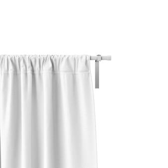 Gros plan de la maquette du rideau blanc