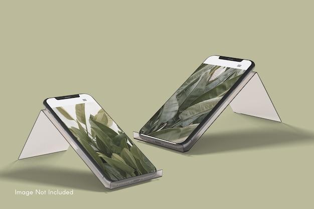 Gros plan sur la maquette du smartphone